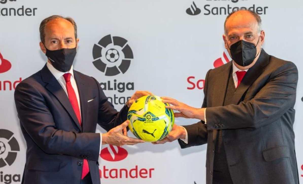 LaLiga y Santander renovaron el acuerdo de patrocinio