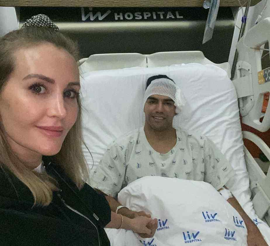 Mensaje de Falcao García luego de la cirugía en su rostro