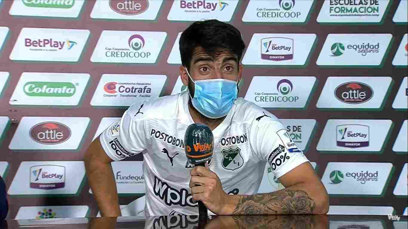 Mensaje de Gastón Rodríguez a los hinchas del Cali luego del golazo y la victoria ante La Equidad