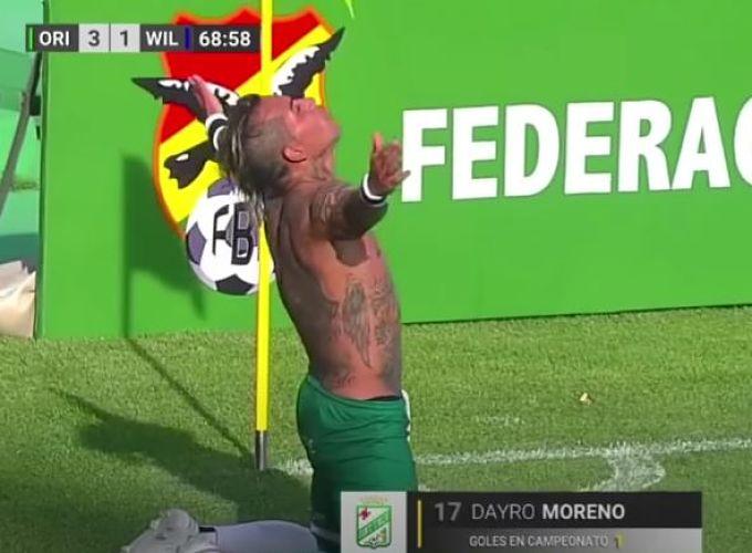 Primer gol de Dayro Moreno en Bolivia con Oriente Petrolero