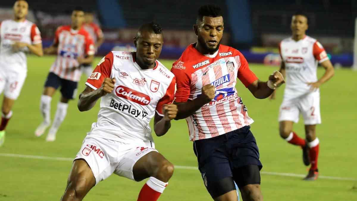 Formación titular de Junior y Santa Fe para el duelo de Copa Libertadores