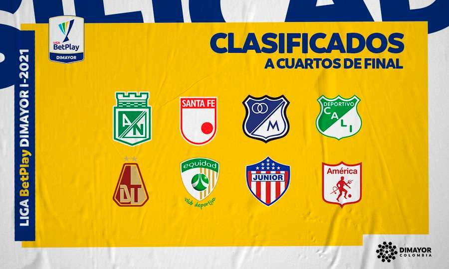 Sorteo: Así se jugarán los cuartos de final en la Liga BetPlay 2021