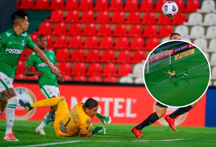 La atajada de Aldair Quintana que se festeja como un gol de Atlético Nacional