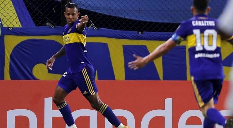 Gol y baile de Sebastián Villa en la victoria de Boca Juniors sobre Santos en la Libertadores