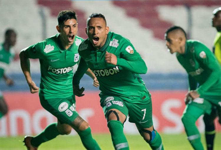Jarlan Barrera, el doblete, su récord personal y lo que dijo del 4-4 de Atlético Nacional