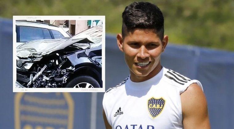 ¡Jorman Campuzano se accidentó de camino al entrenamiento con Boca Juniors!