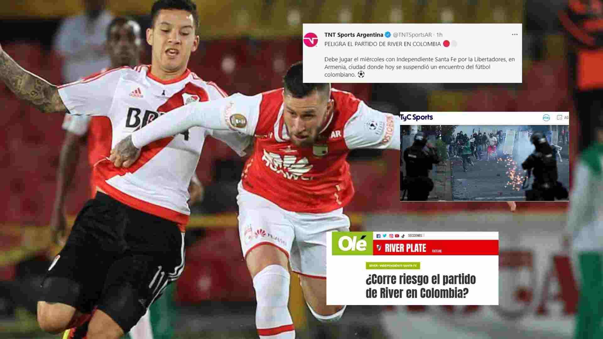 ¡Santa Fe vs. River Plate, en duda! En Argentina están alarmados por lo que atraviesa el país