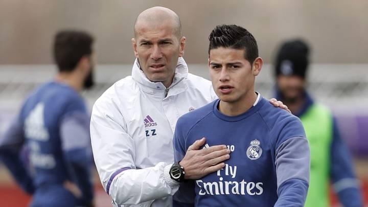 Zinedine Zidane dirigiría a otro colombiano ante la posible salida del Real Madrid