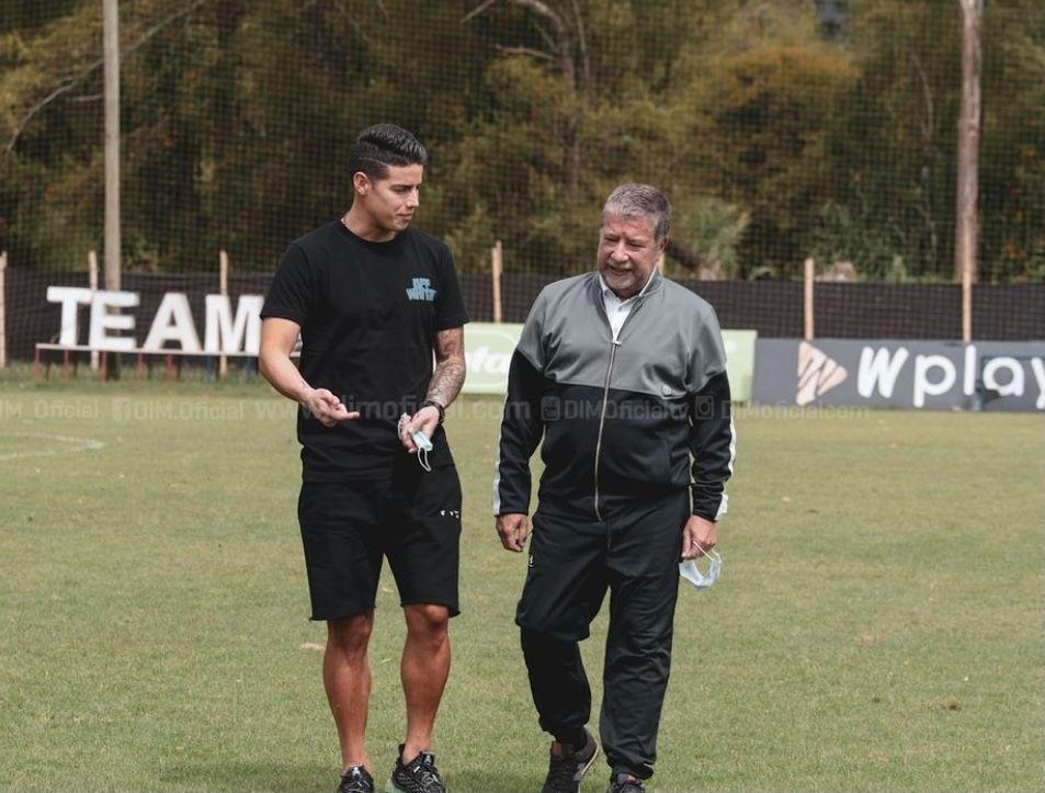 James Rodríguez no fue a la Selección pero sí al DIM