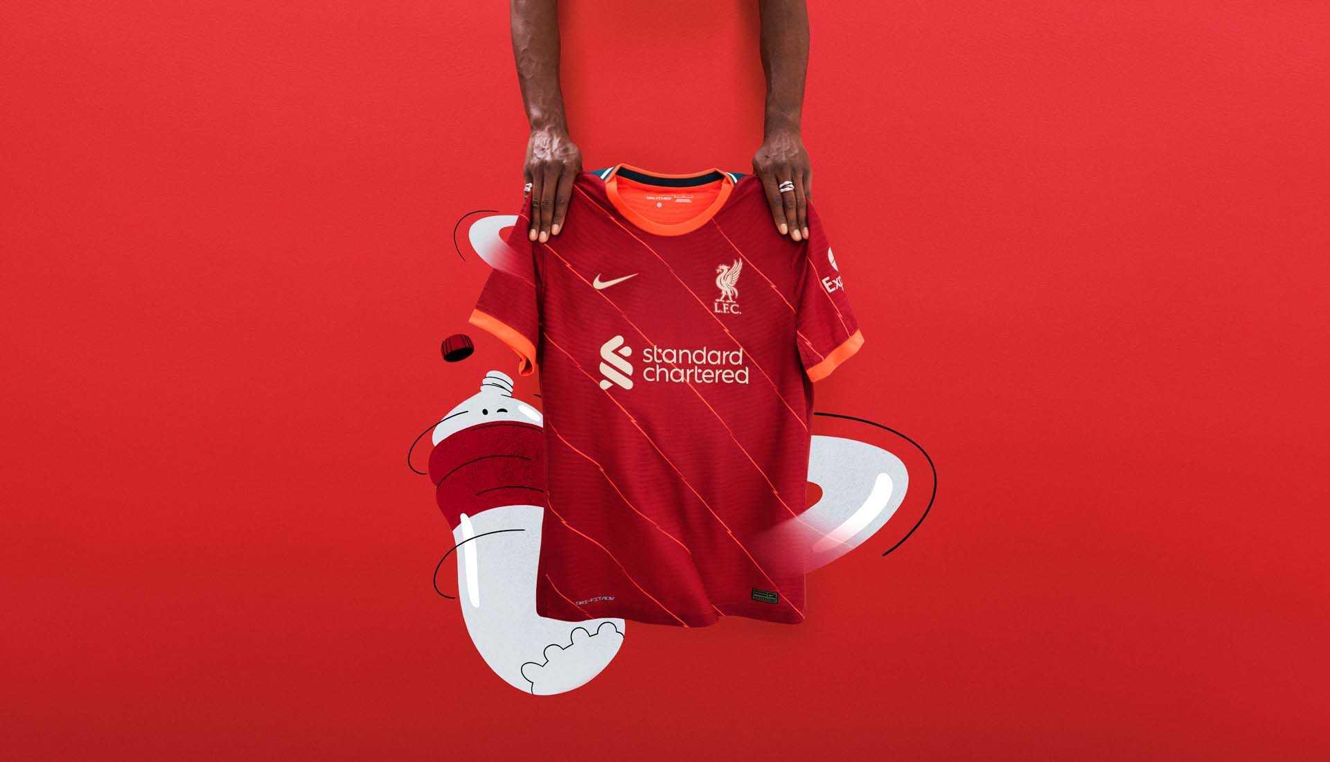 Nike presenta la nueva camiseta del Liverpool 2021/2022