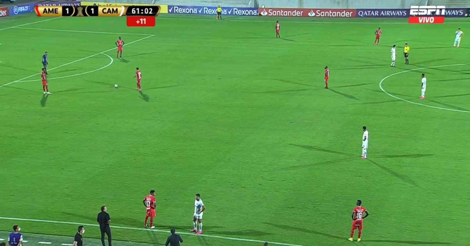 ¡Papelón! Jugadores de América y Atlético Mineiro se revelaron