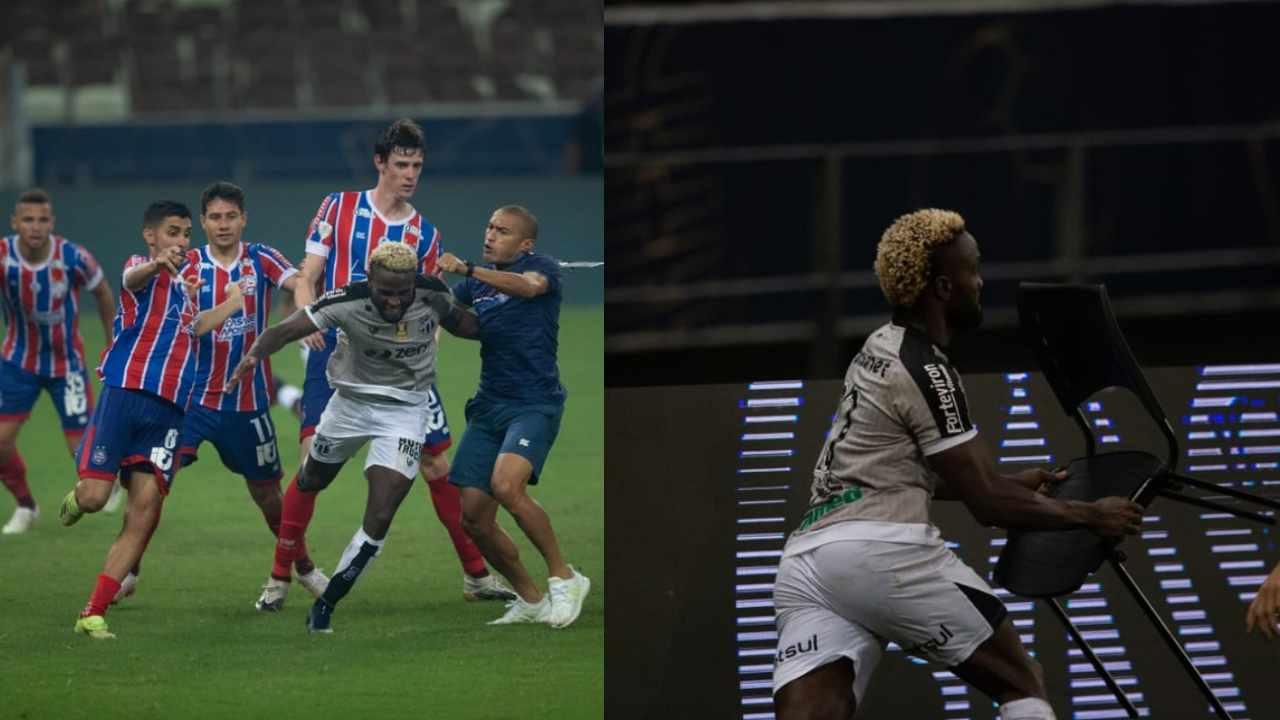Stiven Mendoza protagonizó una batalla campal en el fútbol de Brasil