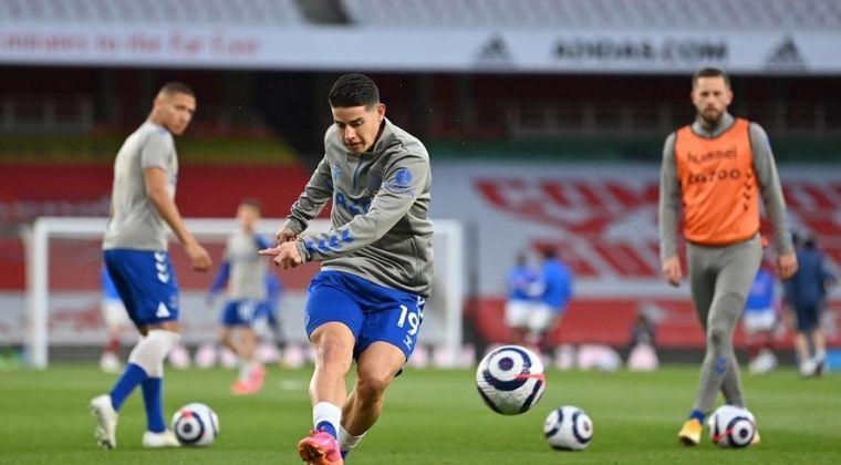 Everton confirmó fecha y partido en el que regresará James Rodríguez a competencia