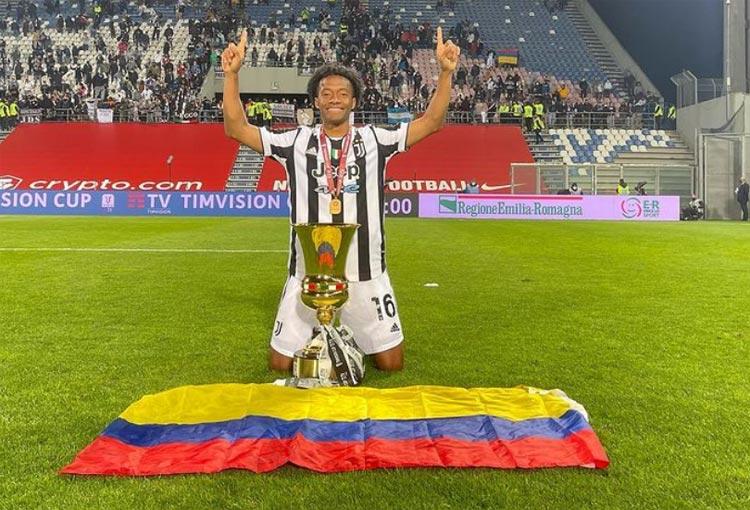 Cuadrado, su título 11 con Juventus y el mensaje a Colombia