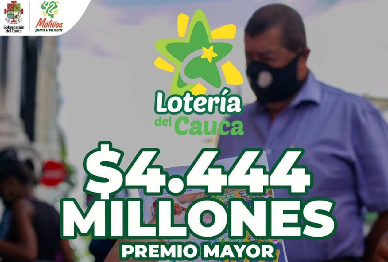Lotería del Cauca. Resultado del 15 de mayo de 2021