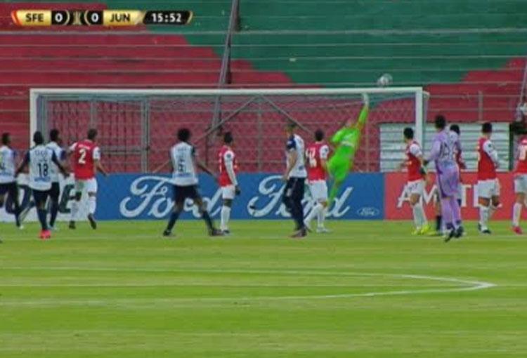 Así se le niega el gol a Junior en partido clave de la Libertadores