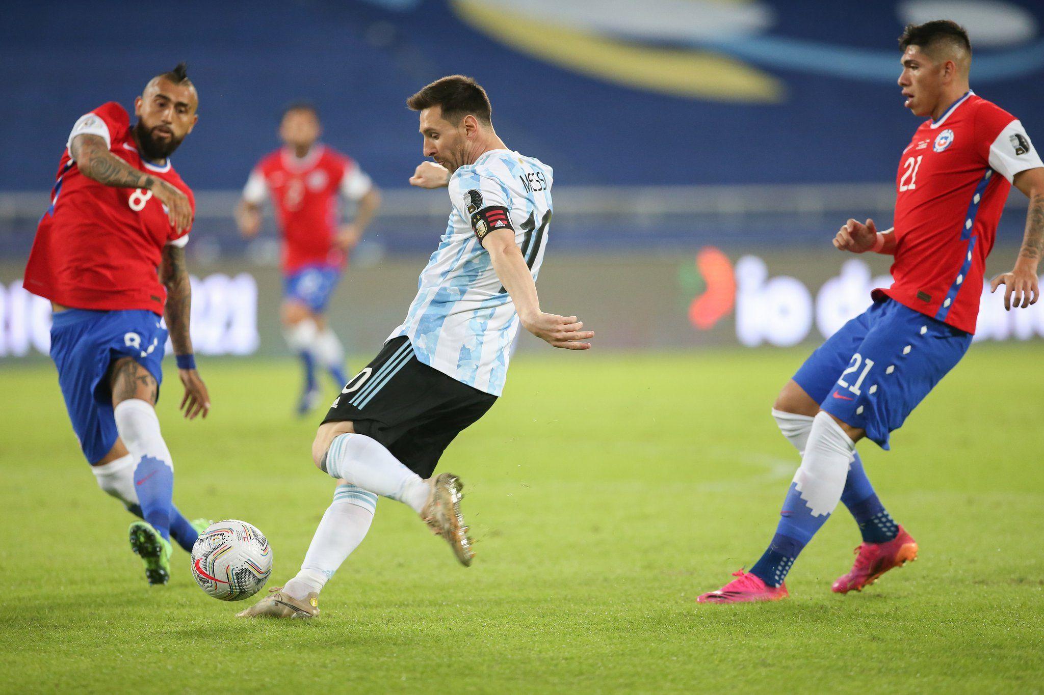 Cero y van tres: Argentina lo ganaba y se lo empataron. Esta vez fue Chile en Copa América
