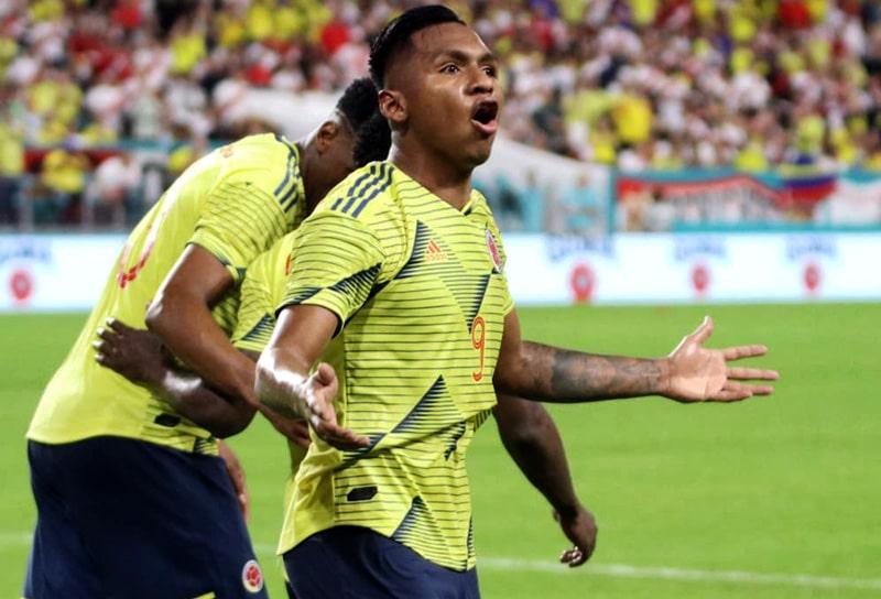 Alfredo Morelos, Eliminatorias al Mundial de Fútbol Qatar 2022, Selección Colombia, Selección de Argentina