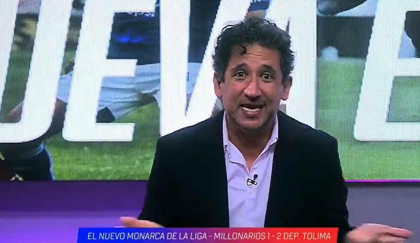 Antonio Casale explotó por la final que perdió Millonarios