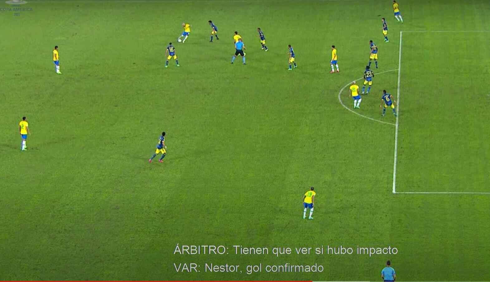 Audio del VAR. Así obraron los árbitros en la jugada del empate brasilero