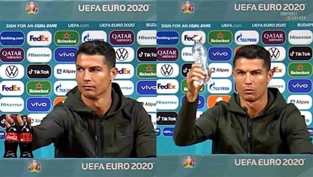 Los memes que dejó el desprecio de Cristiano Ronaldo para Coca-Cola