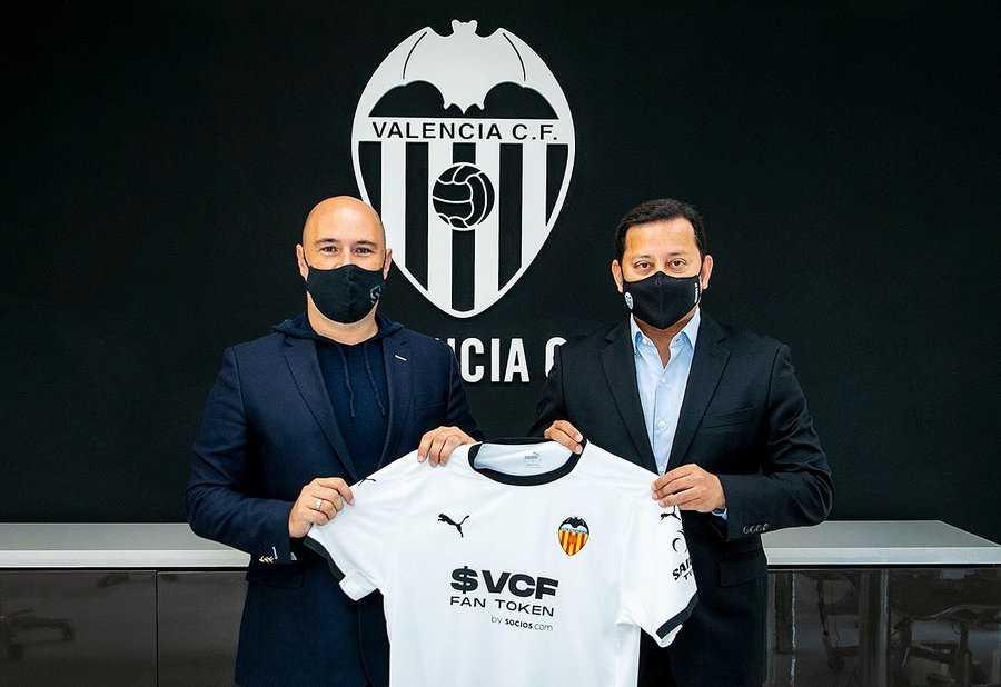 El Valencia de España lleva un Fan Token en su camiseta