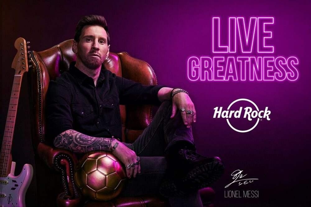 Hard Rock celebra 50 años con Lionel Messi como nuevo embajador
