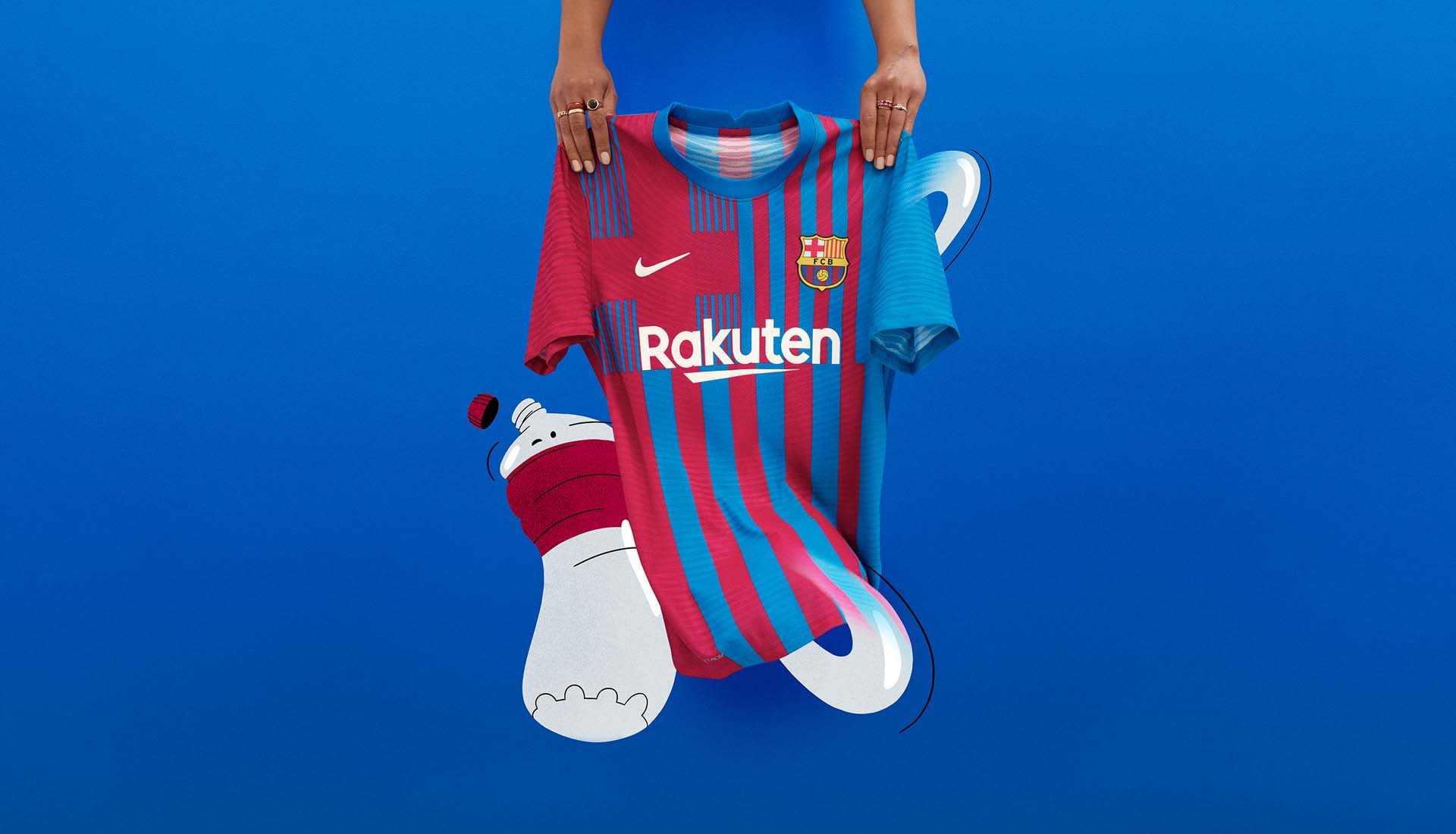 Justificación del nuevo diseño en la camiseta Nike del FC Barcelona