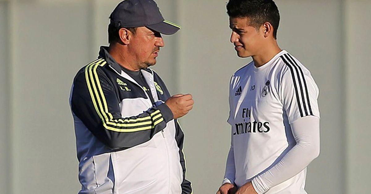 Rafa Benítez y un amague cuando le preguntaron por James Rodríguez. No habla del colombiano