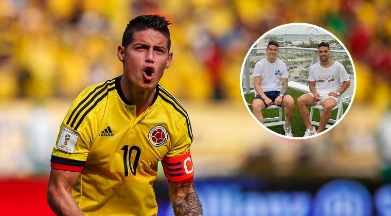 ¡James Rodríguez también le dedicó un trino a la Selección Colombia!