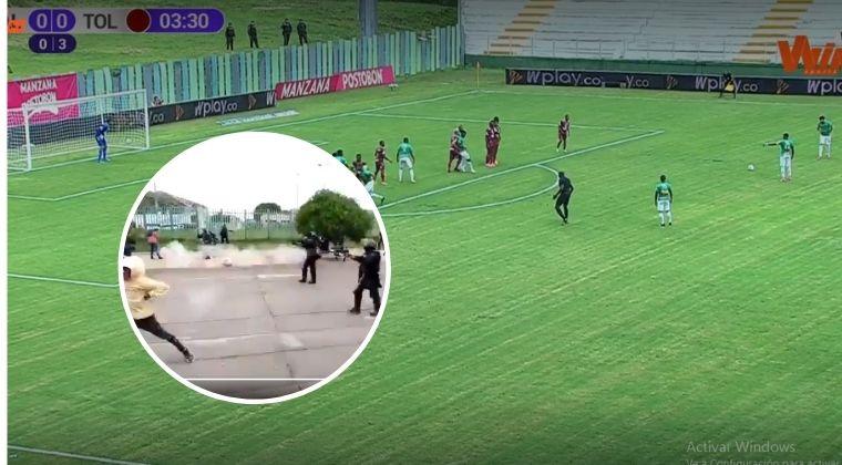 Con disturbios a bordo se reanudó la Liga BetPlay I-2021 con el partido Cali vs. Tolima
