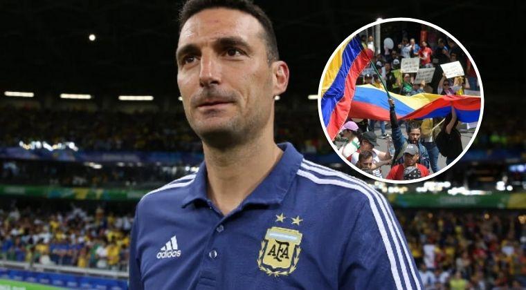 El DT de Argentina elogió a la Selección Colombia y habló sobre la situación del país