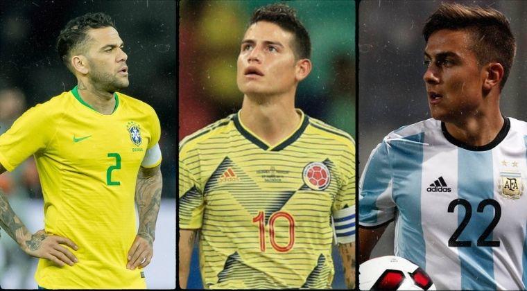 Las figuras sudamericanas que no estarán en la Copa América 2021