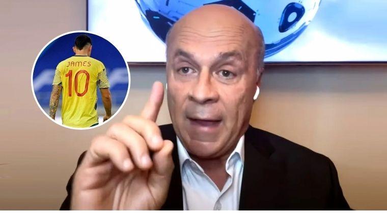 Carlos Antonio Vélez explotó contra James Rodríguez por comentarios contra Reinaldo Rueda