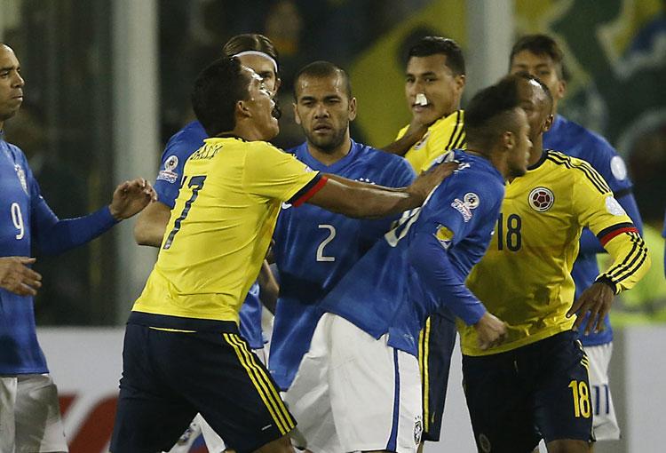 El último Colombia vs. Brasil en Copa América: el gol de Jeison Murillo y la pelea con Neymar