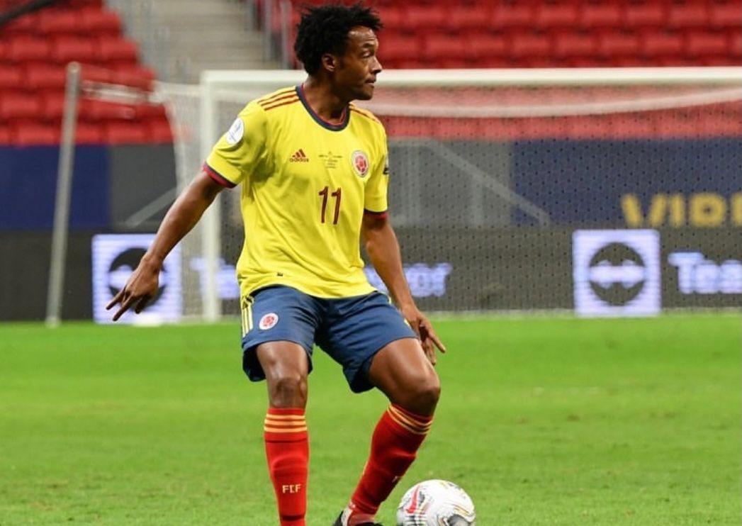 Juan Guillermo Cuadrado y una marca para la historia con la Selección Colombia