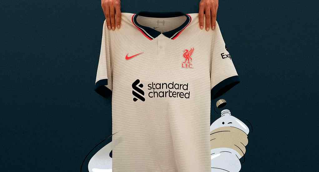 Camiseta Nike visitante del Liverpool 21/22