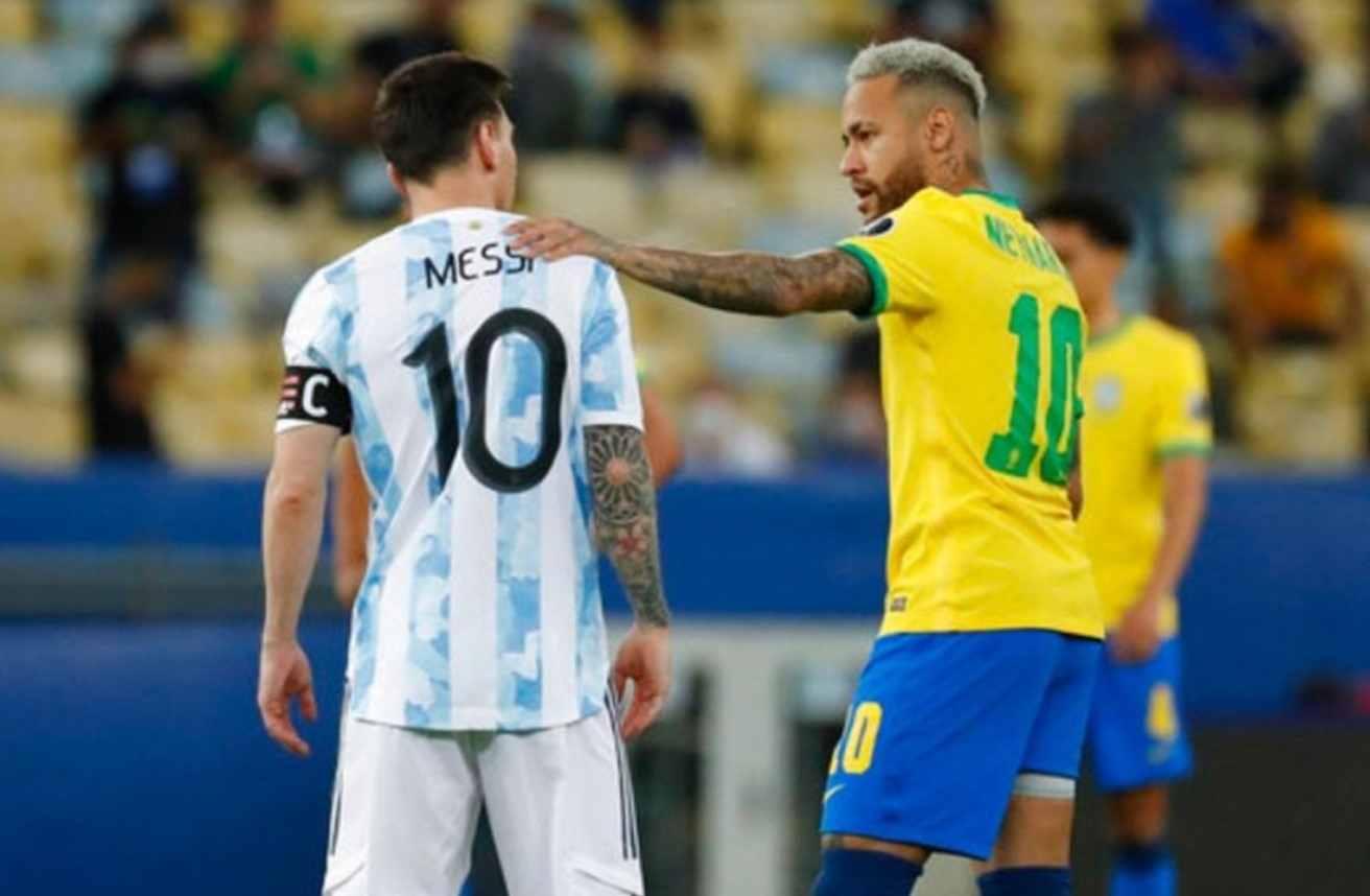 Copa América: Así se reencontraron Messi y Neymar previo a la final