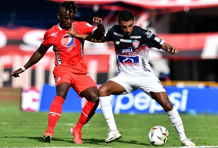 Gabriel Fuentes, Rodrigo Ureña, América de Cali, Junior FC, Liga BetPlay 2021-II