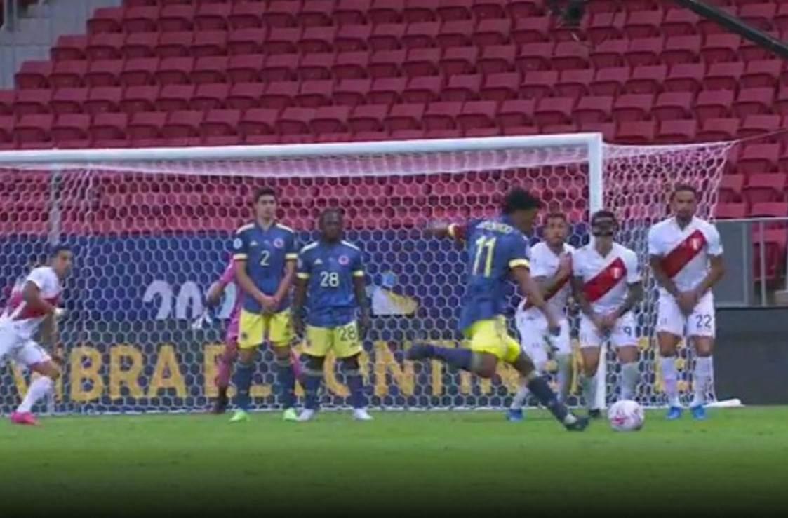 ¿Hace cuánto que Colombia no hacía gol de tiro libre?