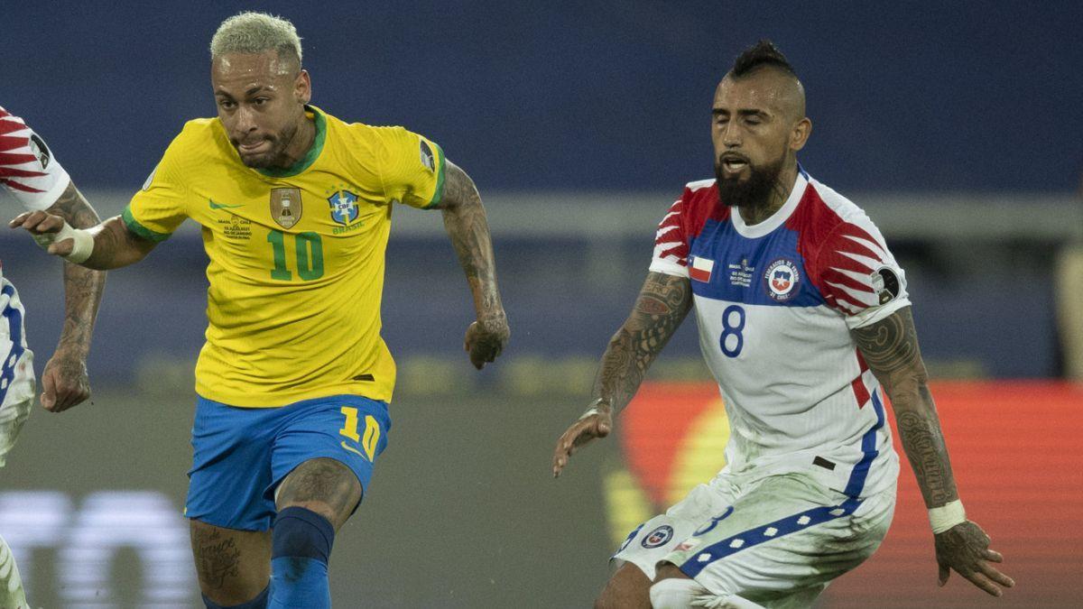 Neymar vs. Arturo Vidal: La tiradera en redes sociales después del partido de Copa América