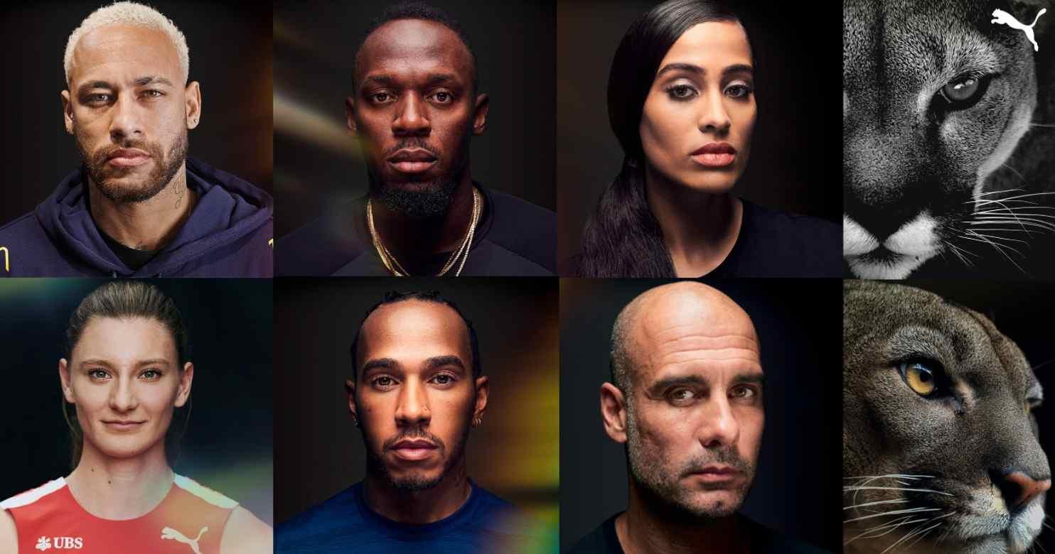 PUMA lanza campaña con Neymar, Bolt, Guardiola y Hamilton