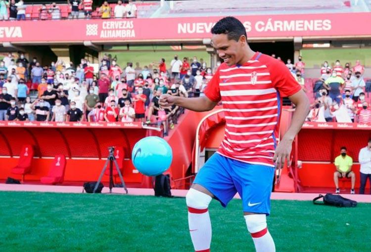 Carlos Bacca: la gran presentación en Granada y lo que dijo del regreso a Junior