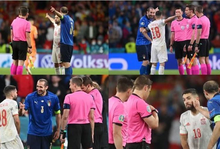 Eurocopa: ¿Qué pasó entre Chiellini y Jordi Alba en el sorteo?