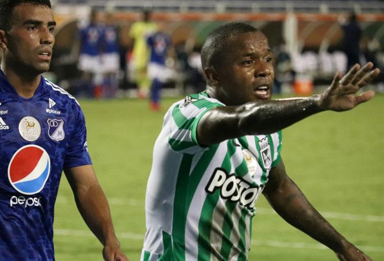 Dorlan en su regreso a Nacional: capitán, 80 minutos y el reclamo a un rival