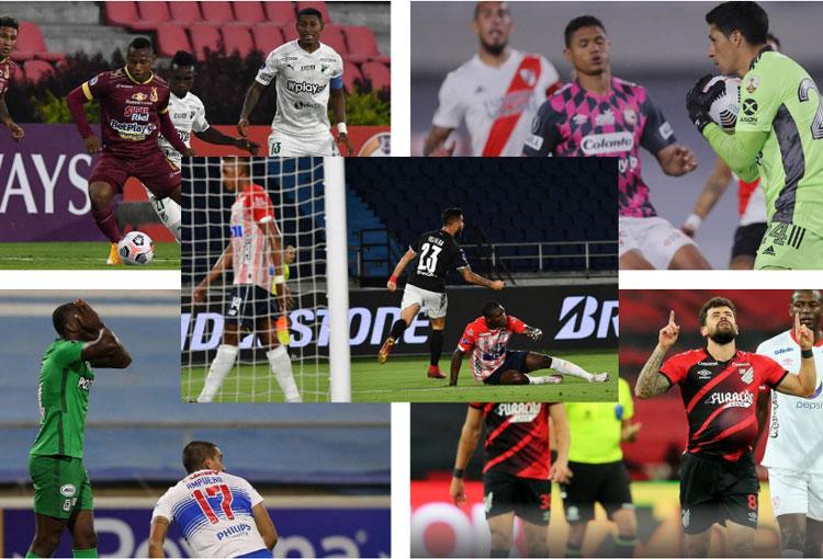 Los tristes desenlaces de los equipos colombianos en Libertadores y Sudamericana 2021