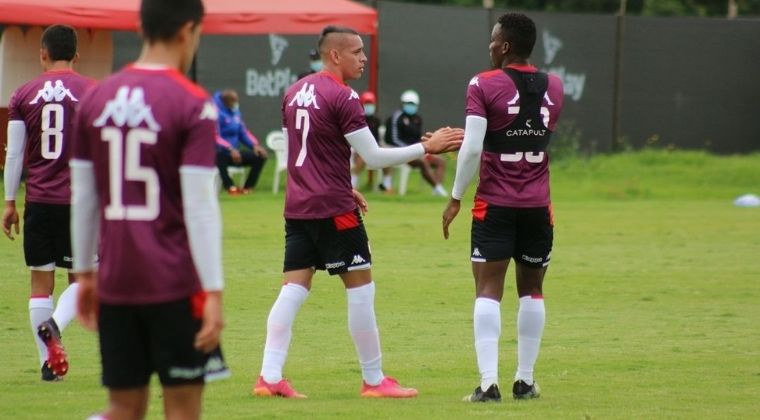 Neyder Moreno, goleador y figura con Santa Fe en la pretemporada