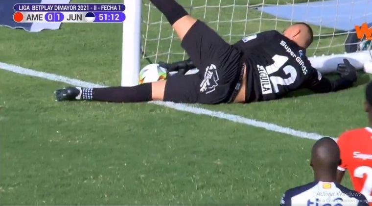 ¿Era gol? El VAR salvó al América de Cali tras milimétrica jugada de gol del Junior