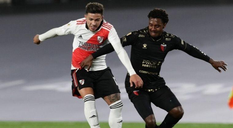 Yéiler Góez: Magistral presentación contra River Plate y primer gol como profesional