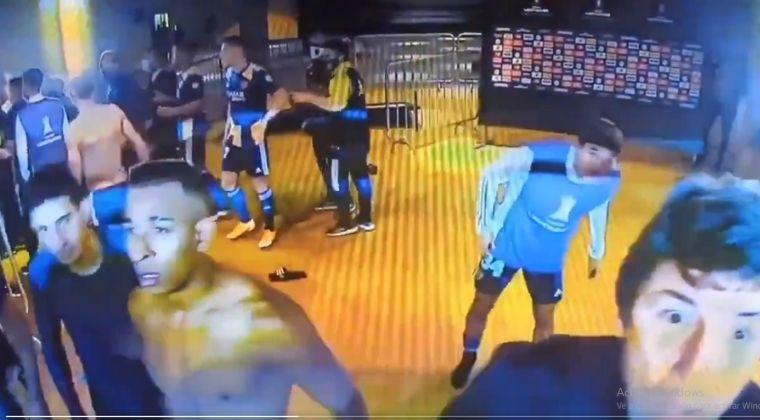 Sebastián Villa y Jorge Bermúdez protagonizaron desmanes al final del Mineiro vs. Boca